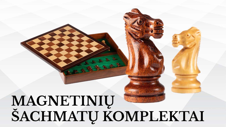Magnetiniai šachmatai - puikiai tinka keliaujantiems ir neturintiems daug vietos laikyti stalo žaidimus.