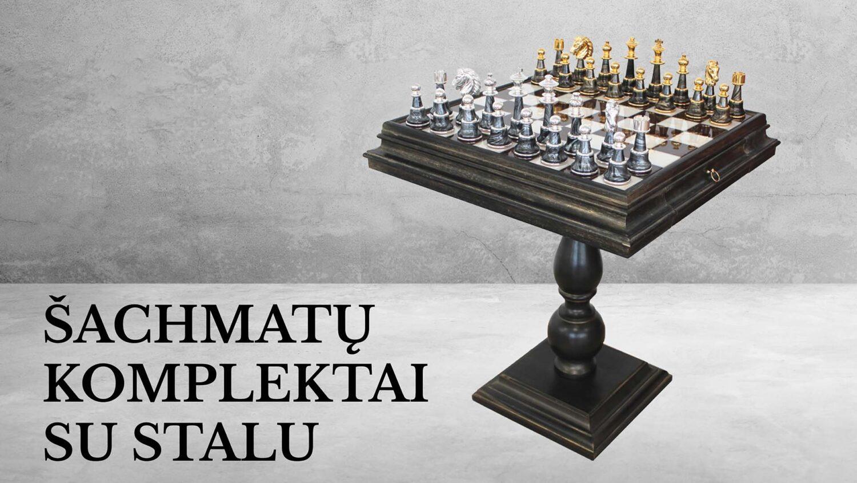 Šachmatų stalai - prabangus ir patogus būdas žaisti šachmatais.