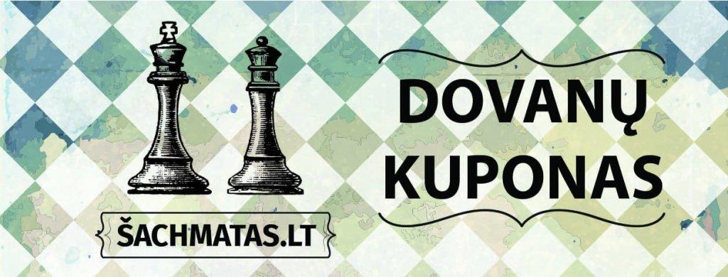 dovanų kuponas šachmatams įsigyti - geriausia dovana vyrui